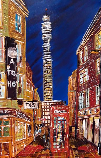 BT Tower by night by Andrew Alan Matthews