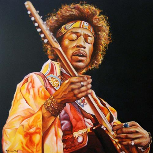 Jimi Hendrix by Damon Hall