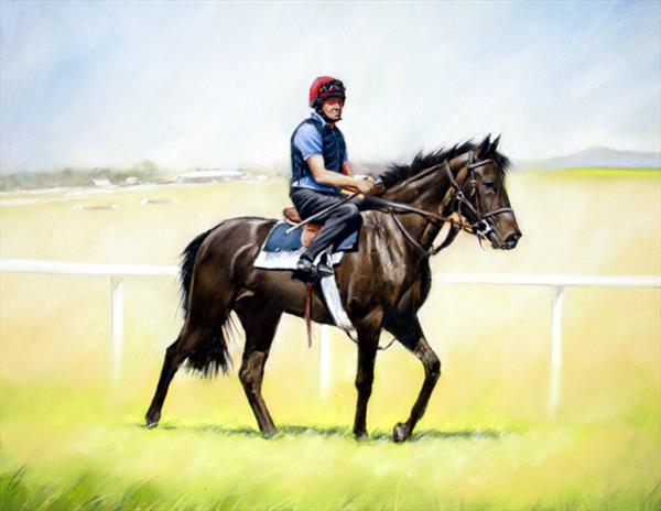 Morning Exercise at the Curragh by Brian Halton