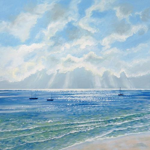 Boats in the Morning Sun by Sandra Francis