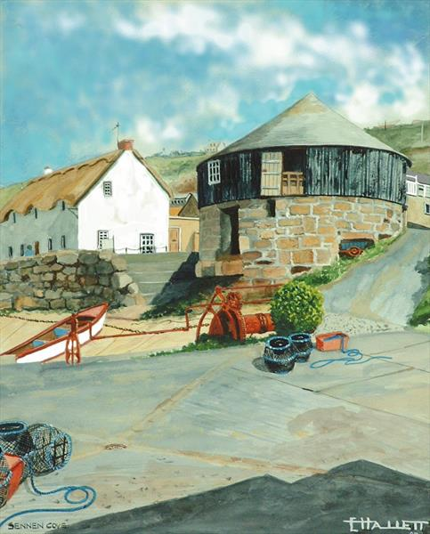 THE ROUND HOUSE GALLERY AT SENNEN COVE by Ted Hallett