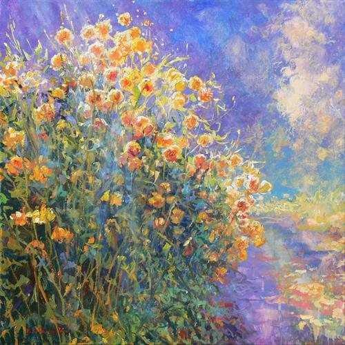 Flower Hedge (on display at The Art Gallery, Tetbury) (Reserved for OR) by Mariusz Kaldowski