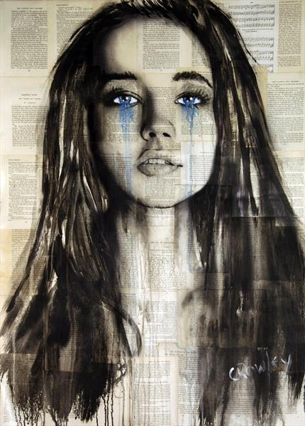 crying eyes, blue by darren crowley