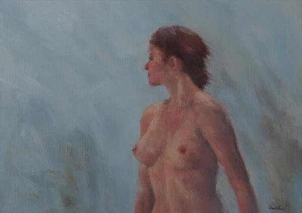 Figure in blue light. (no.2) by Jacqueline Westland