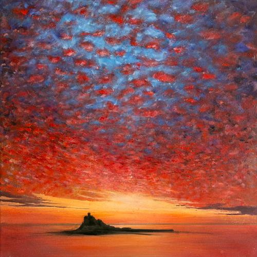 St Michael's Mount Sunset Sky by Diane Griffiths