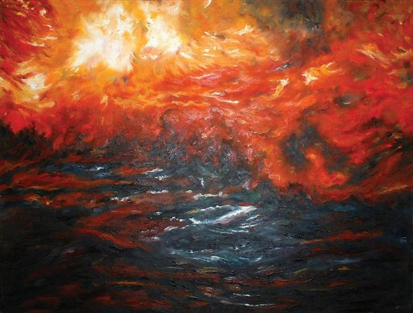 Fire At Sea by Barry Spence