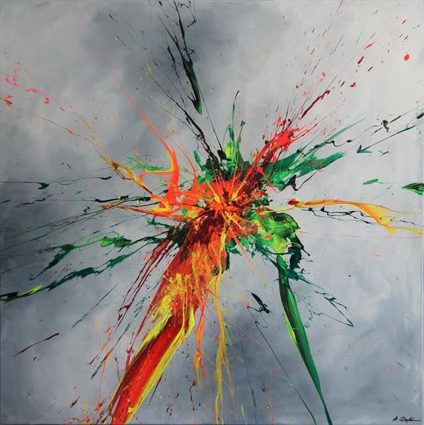 Luminous Bursts I [Spirits Of Skies 100066] (100 x 100 cm) XXL (40 x 40 inches) by Ansgar Dressler