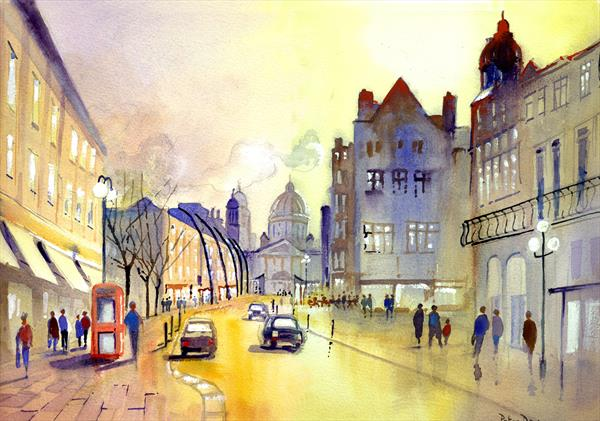 Belfast. City Hall from Royal Avenue by Peter Day