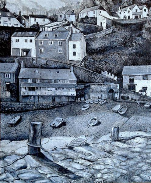 Clovelly Village & Harbour by Spencer   Derry