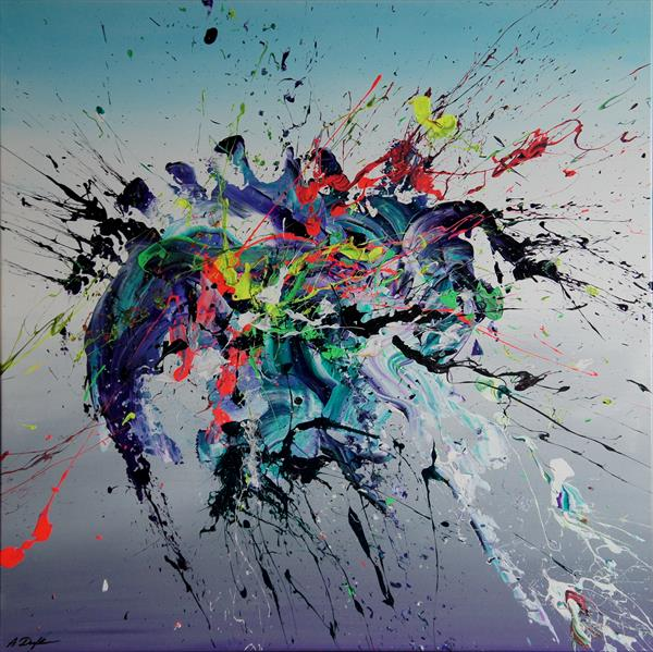 Emotional Release III (Spirits Of Skies 081040) - 90 x 90 cm - XL (36 x 36 inches) by Ansgar Dressler