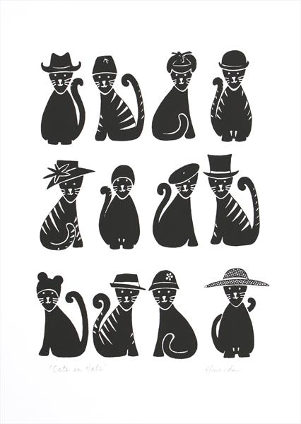 Cats in Hats by Kathryn Edwards