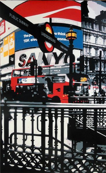 Piccadilly Circus Station, London by Sue Rowe