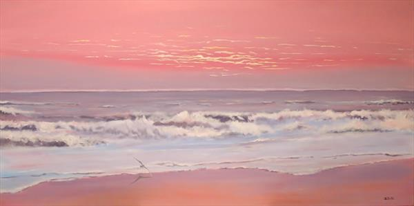 Waves at dawn (large) by Andrew Snee