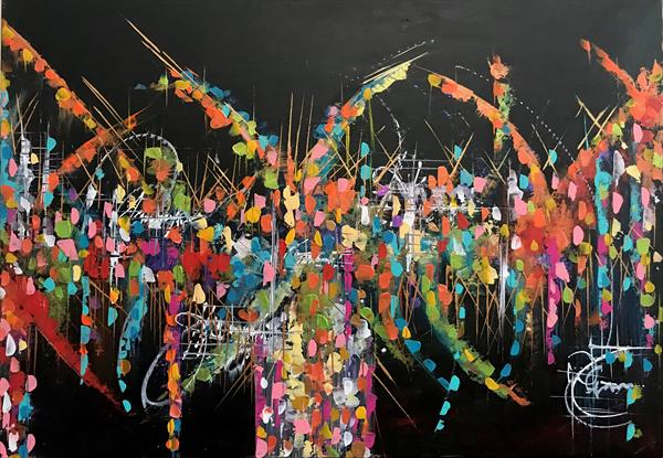 Speed  Abstract Painting  by  Rizna  Munsif