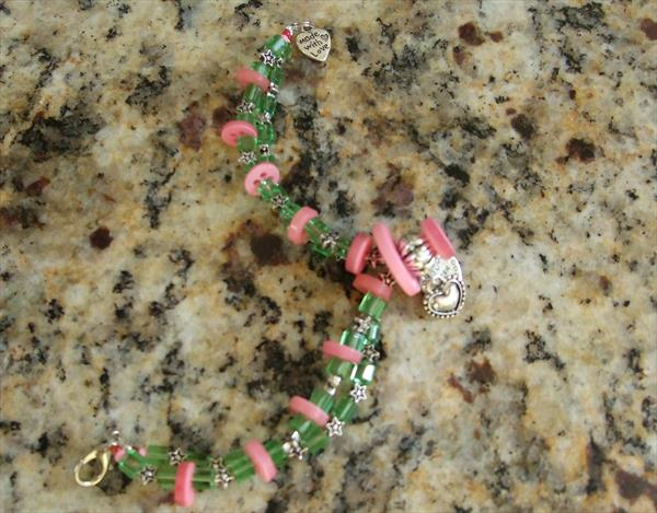 Bracelet with Sister charm pendant by Mary Ballentine