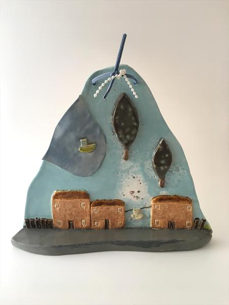 Cottage Scene Wall Ornament by Julie Anne