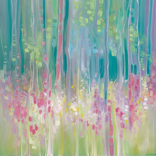 Abstract Summer - a summer wildflower impression by Gill Bustamante