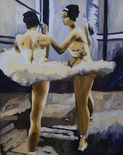 Ballet Studio Session by Marjory Sime