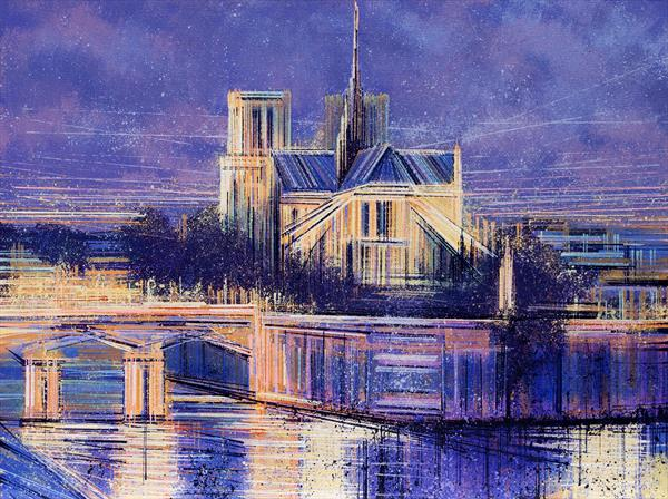 Notre Dame In Evening Light by Marc Todd