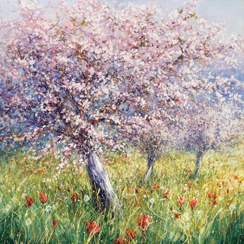 Cherry Trees in Bloom (Commission reserved for M) by Mariusz Kaldowski