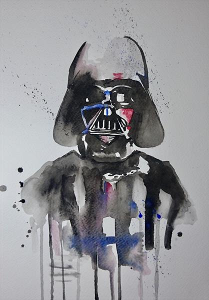 Star Wars Darth Vader watercolour painting by Matt Dale