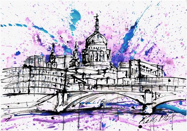 st pauls skyline (the pink one)