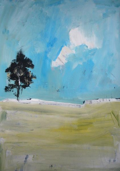 tree in the meadow by chrisa pavlopoulou