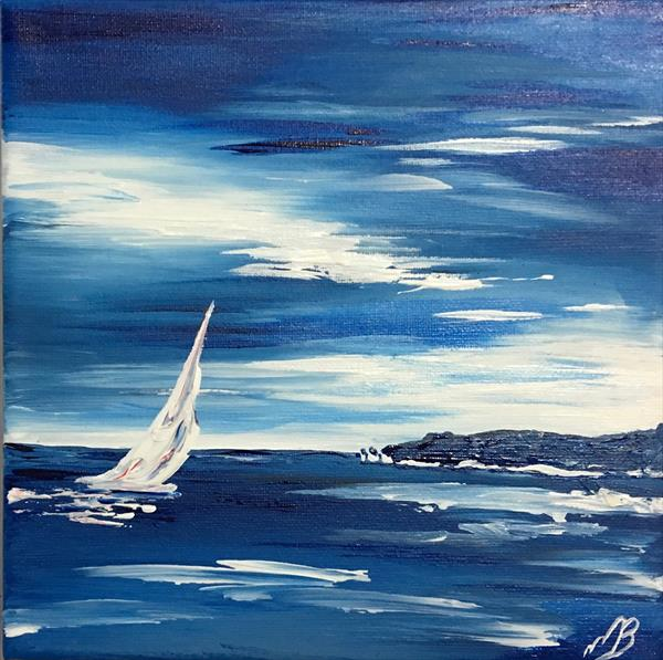 sailing past Old Harry Rock by Marja Brown