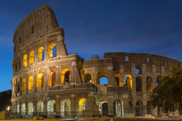 Roman Collosseum in Blue by Phil Lewis