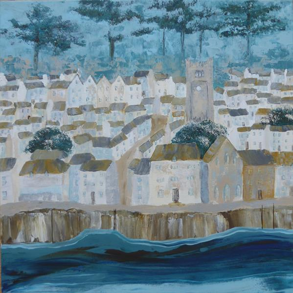 Fowey from Polruan by Elaine Allender