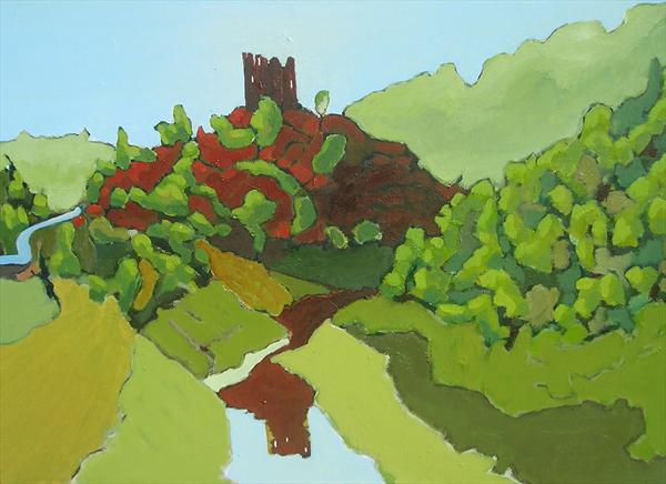 Ruins of the Alleuze Chateau by Paul O' Dell