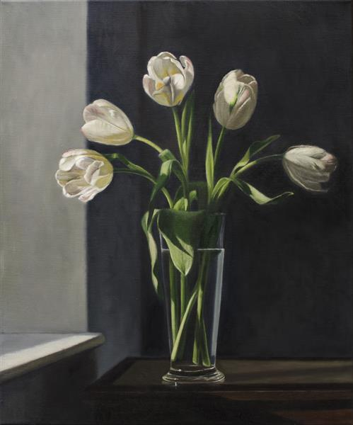 White Tulips, Hazy Sun