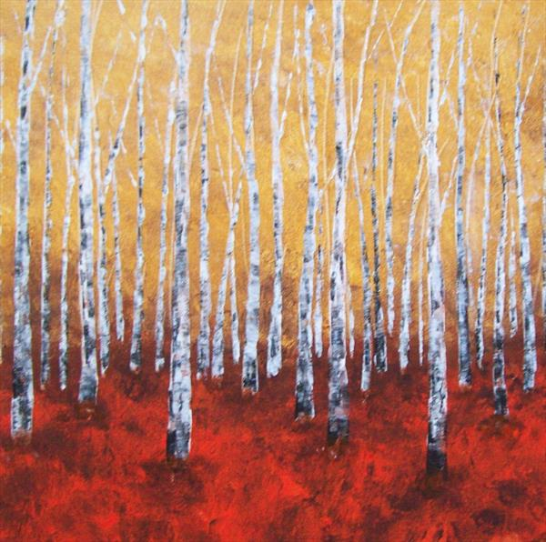 Golden Autumn Abstract by Patricia Richards