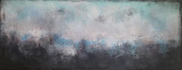 """59x 23,5""""( 150x60cm),Thinking out loud 2, Landscape, large acrylic painting  by Veronica Vilsan"""
