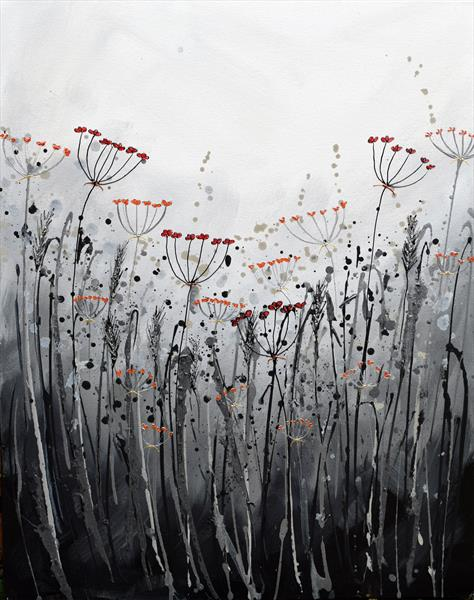 Grasses in the Rain by Amanda Dagg