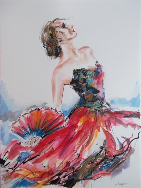 Flamenco in Red by Antigoni Tziora