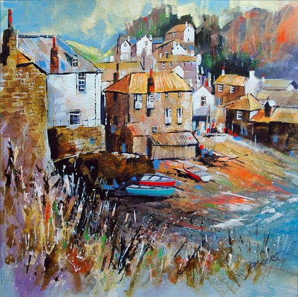 Port Isaac Harbour, Cornwall. by David Shiers