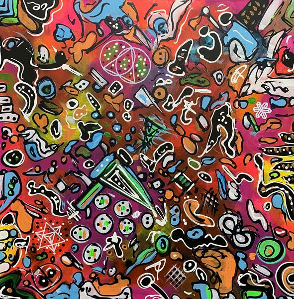 31.5''x31.5''( 80x80cm), Life in Colors 5 by Veronica Vilsan