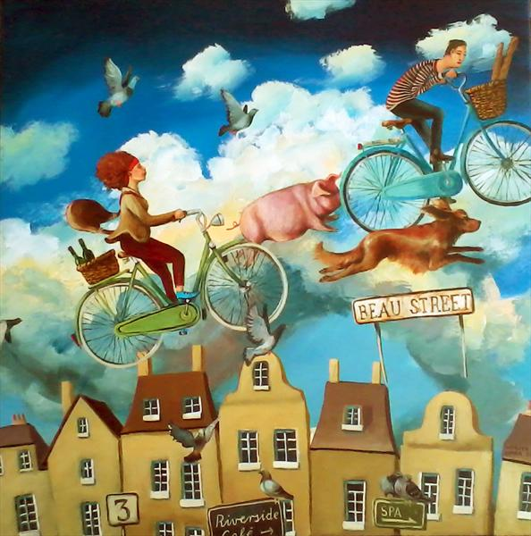 Beau Street (Bath Inspired)(On Display At the Art Gallery, Tetbury) by Monika Umba