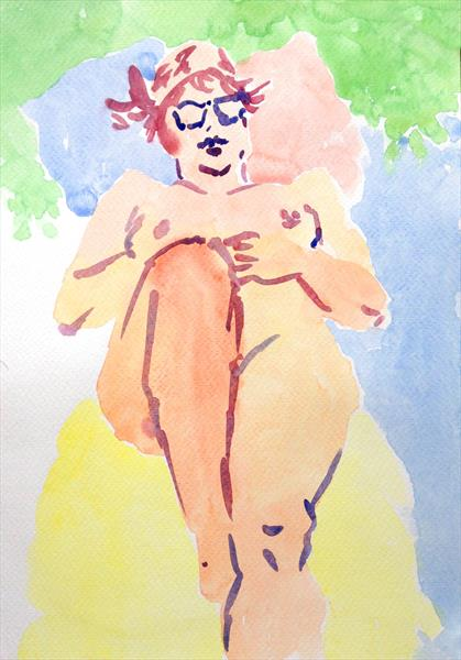 Matisse style nude by Peter Kavanagh