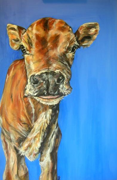 Mini Moo Cow Limited Edition Print of 150 by Sam Fenner