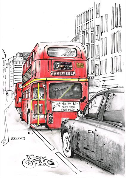 Ludgate Hill London by Keith Mcbride