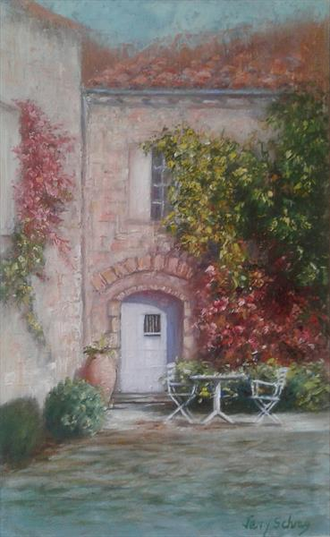 Quiet Courtyard  by Jenny Schrag