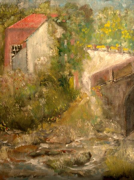 PACK HORSE BRIDGE & STREAM by Peter Holzapfel