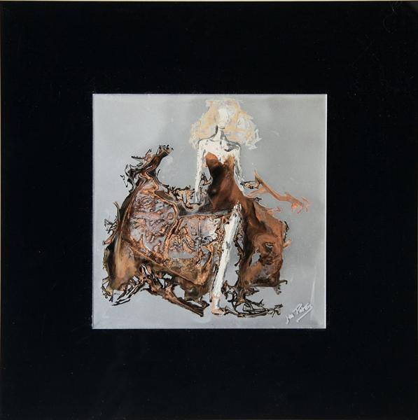 Vogue (Framed /Reverse of Glass Painting) by Jan Peters