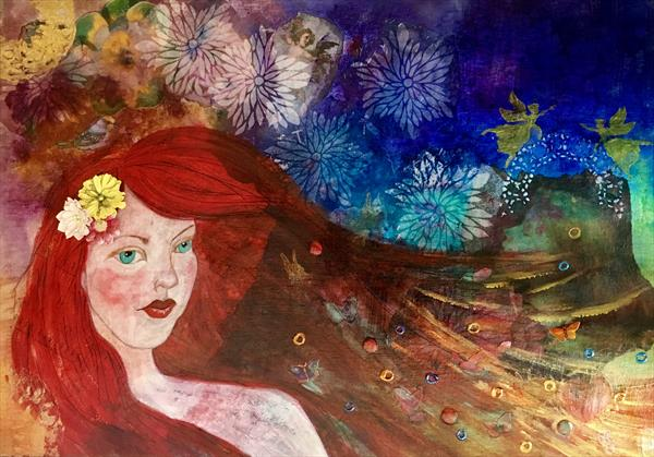 Red Mermaid by Anna Conversano