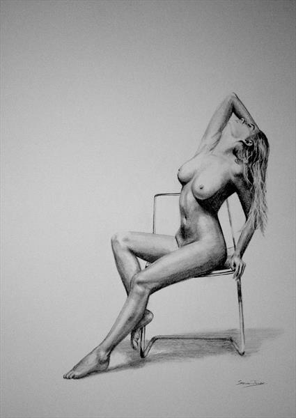 pencil  nude 20 by Steve Jones