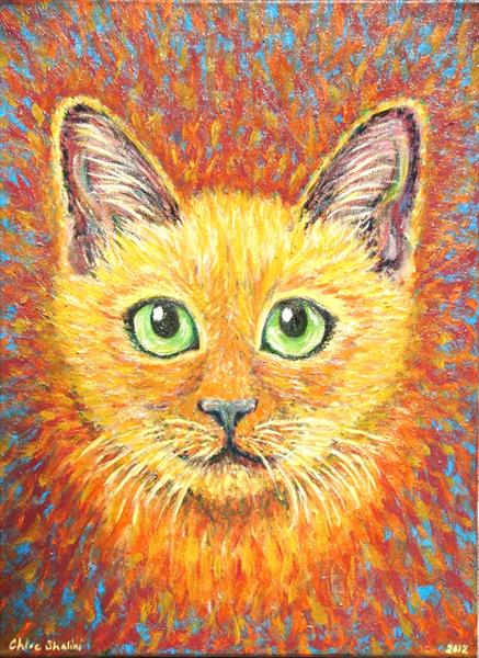 Cute Ginger Cat by Chloe  Shalini