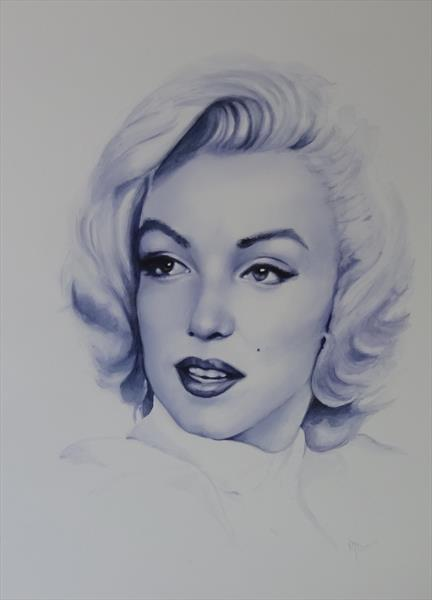 Marilyn 'Like a candle in the wind'  by Mel Davies
