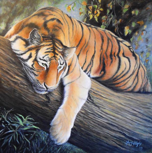 Tiger Resting by Marion Wilford